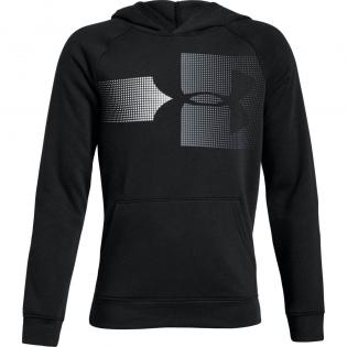 UNDER ARMOUR BOY'S BLACK RIVAL LOGO HOODIE